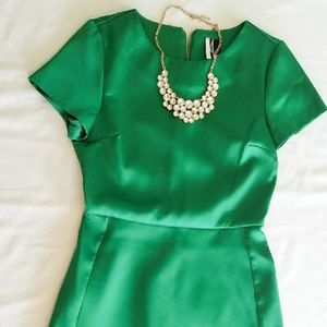 TOPSHOP Emerald Green Mini Dress